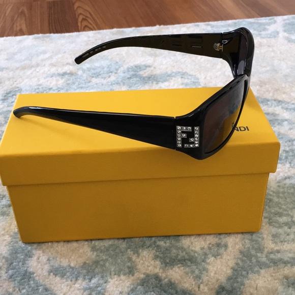 05fd0e604f12 Fendi Accessories - Fendi sunglasses black with rhinestones